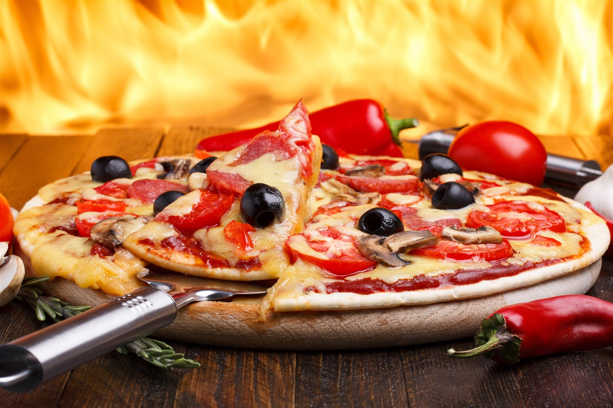 pizza made from a kamado grill