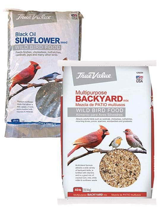 Your Choice 20lb Black Oil Sunflower Bird Seed or 40lb Wild Bird Food