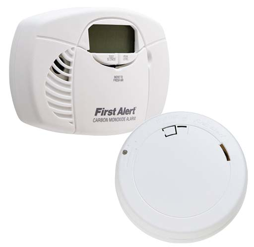 Your Choice First Aler 10 Year Battery Operated Smoke Alarm or Digital Display Carbon Monoxide Alarm